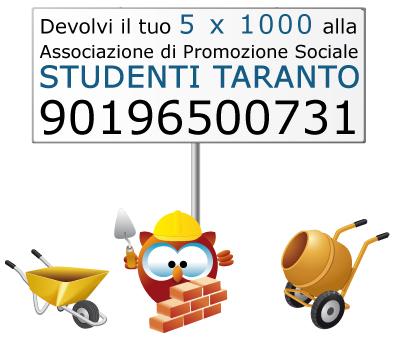 Devolvi il tuo Cinque per Mille all'Associazione di Promozione Sociale Studenti Taranto